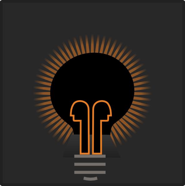 Dim Light Bulb Clipart.