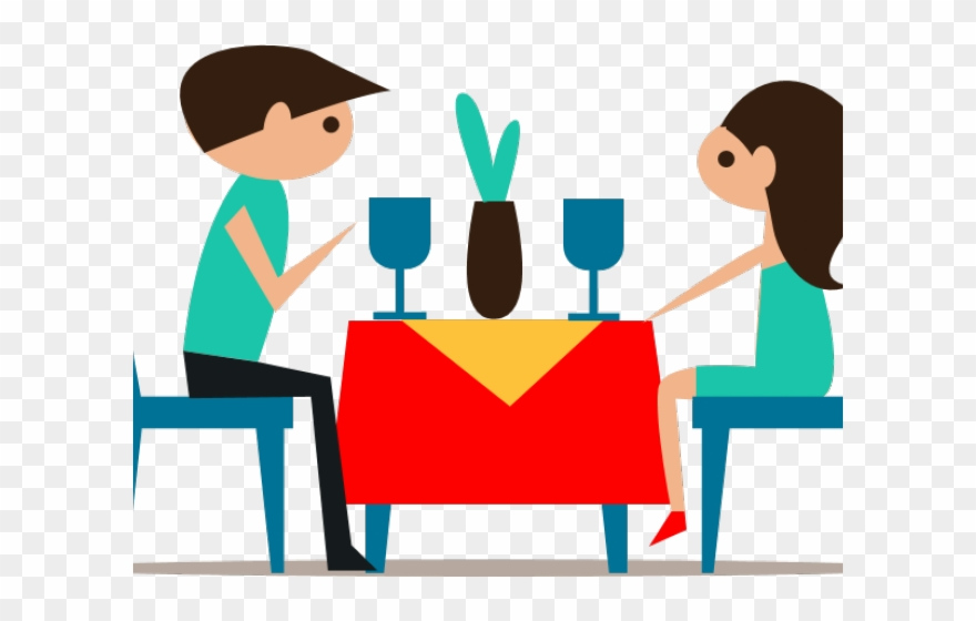 Dining Table Clipart Couple Dinner.