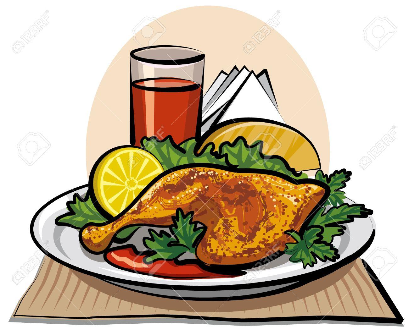 Chicken Dinner Cliparts.