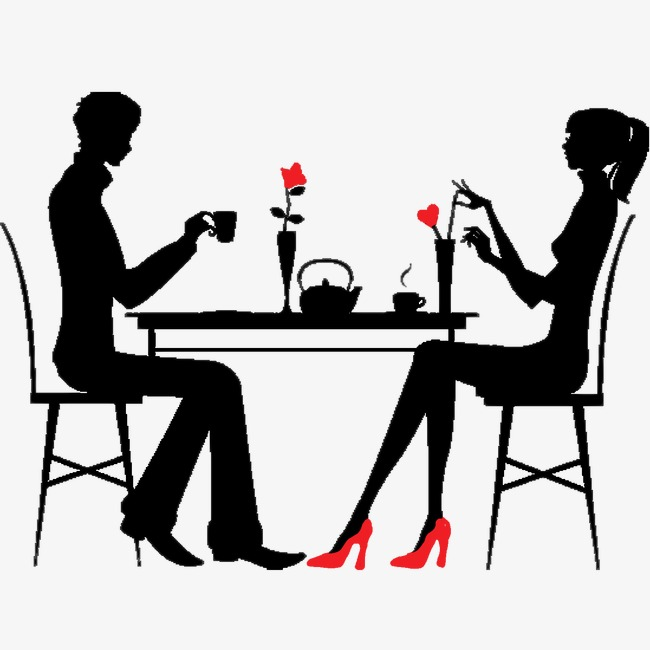 Download Free png Dinner Couple, Dinner Clipart, Dinner, Lovers PNG.