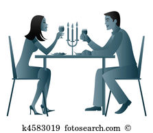 clipart dinner for two #20