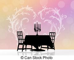 Dinner for two Clip Art and Stock Illustrations. 355 Dinner for.