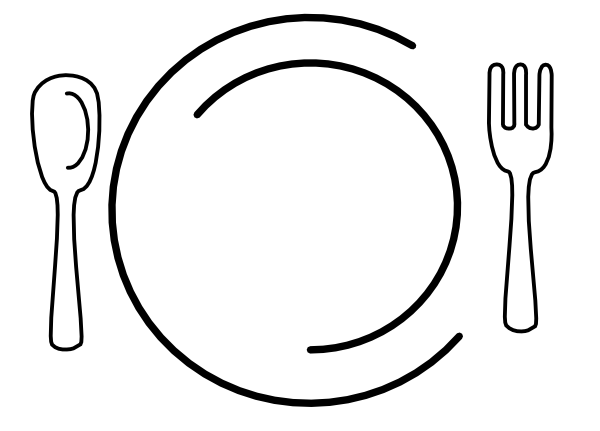 Dinner Table Setting Clipart.