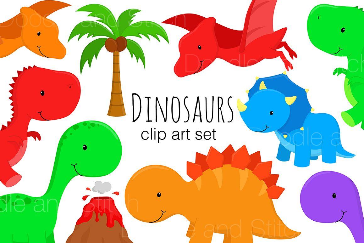 Dinosaur Clipart Illustrations.