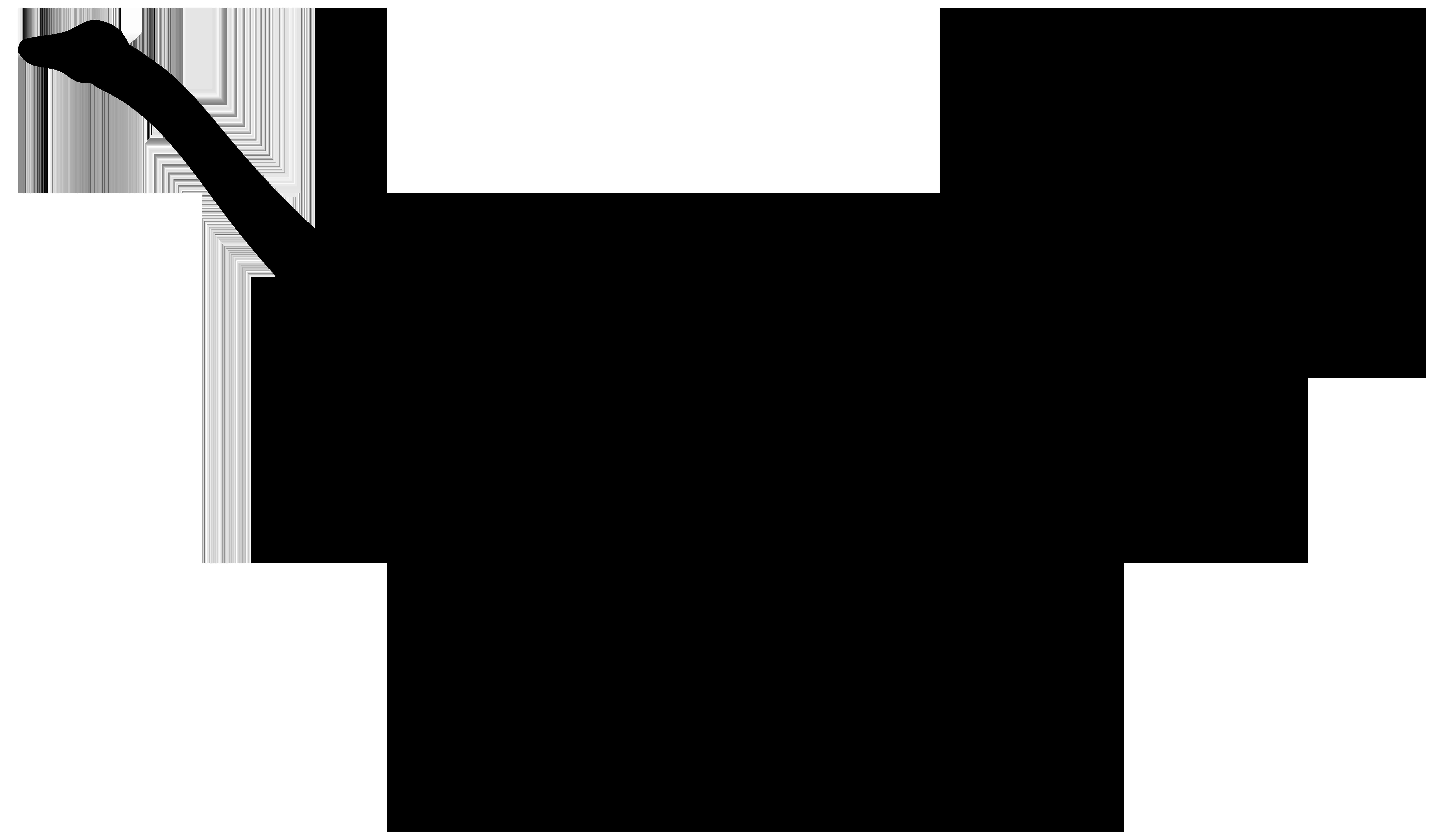 Dinosaur Silhouette PNG Transparent Clip Art Image.