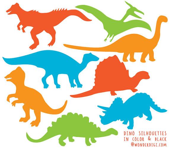 dinosaur clipart silhouette #17