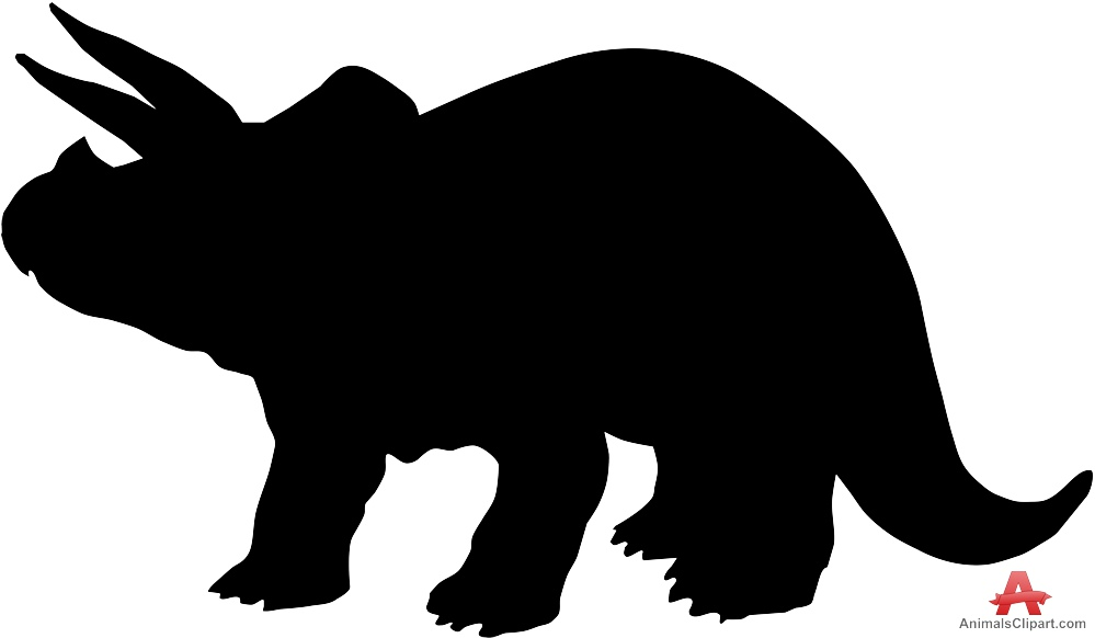 Triceratops Dinosaur Silhouette Clipart.