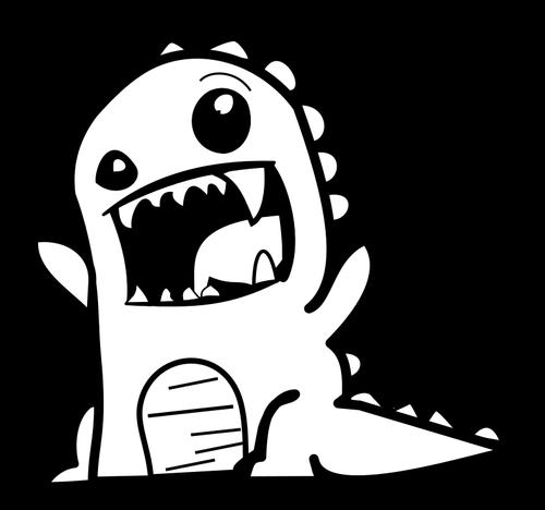 Dinosaur Clipart Black And White.