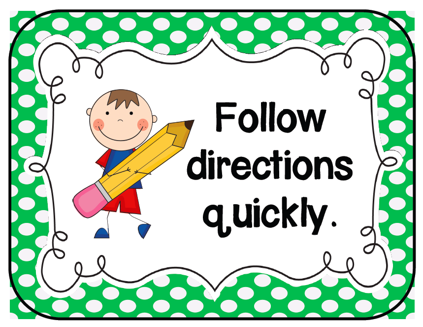Follow Directions Clipart.
