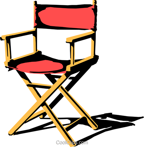 Director\'s chair Royalty Free Vector Clip Art illustration.