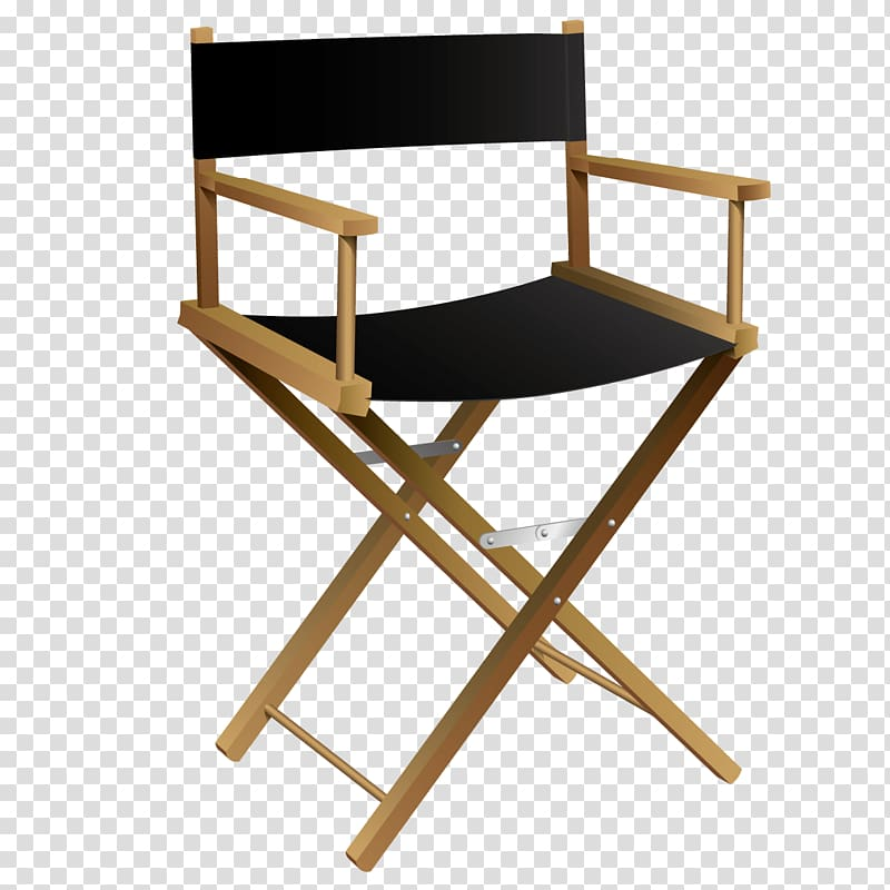 Directors chair , Wooden chairs transparent background PNG.