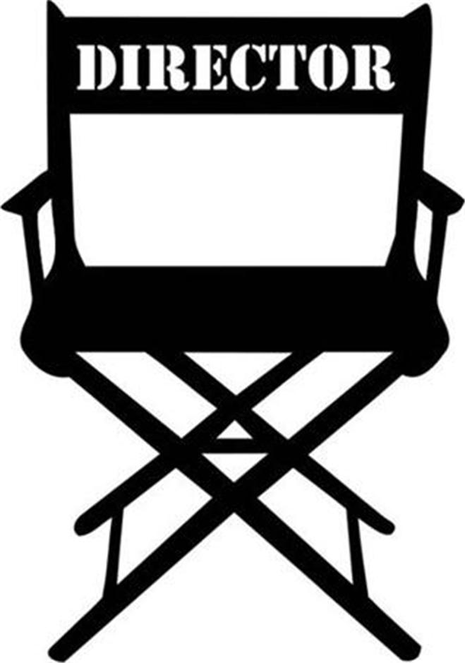 Film Director Chair Clipart.