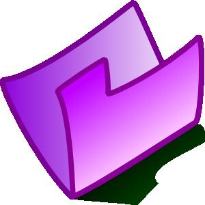 Purple Folder clip art.