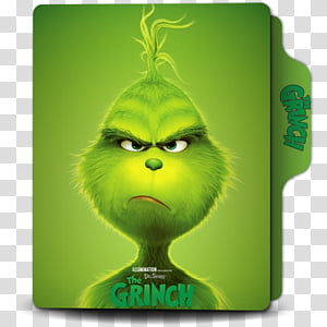 The Grinch Folder Icon, The Grinch () transparent background.