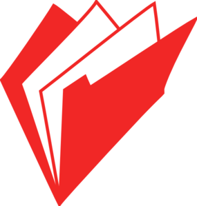 Folder Red clip art.