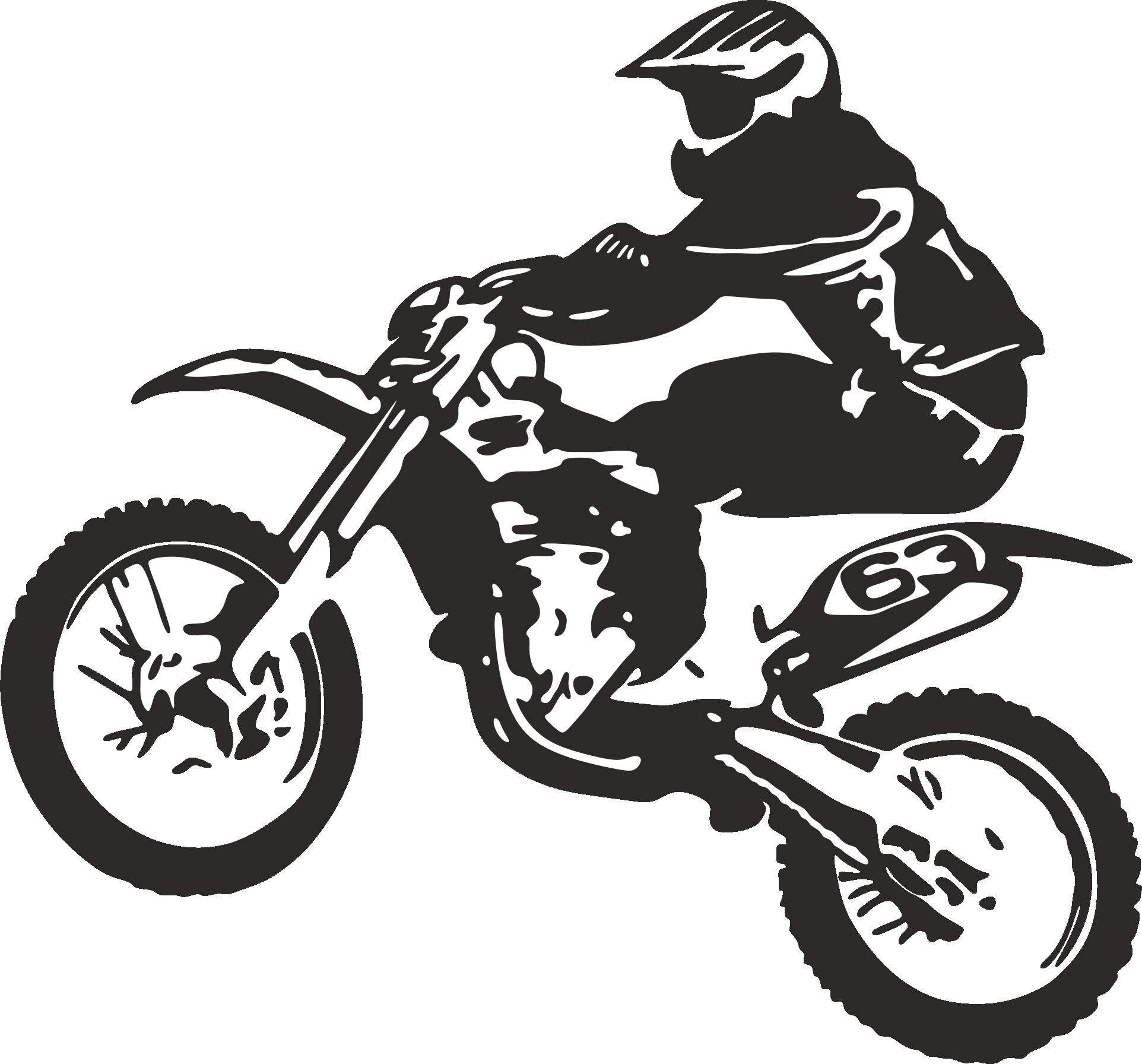 Clip art Bicycle Motorcycle Dirt Bike Motocross.