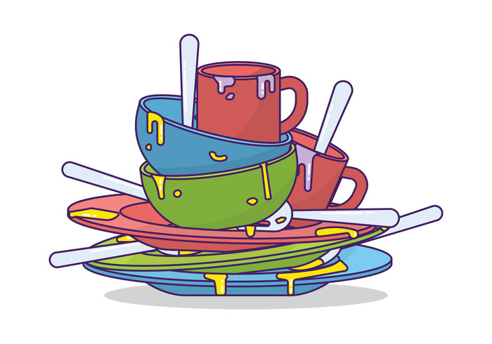 Dirty Dishes Clipart.