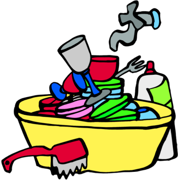 The Dirty Dishes in Sink Clipart Free.