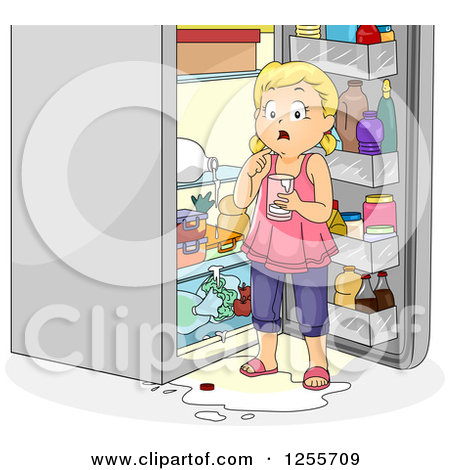 Dirty Refrigerator Clipart.
