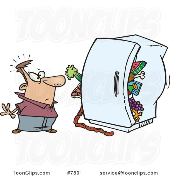 Messy Refrigerator: Clipart Dirty Refrigerator