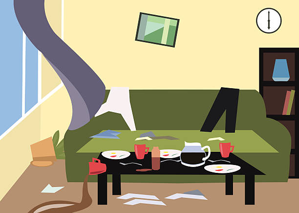 Best Dirty Living Room Illustrations, Royalty.