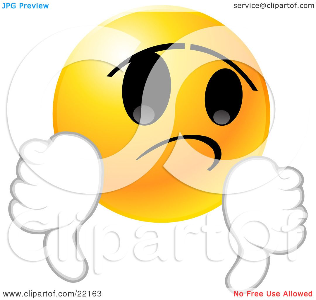 clipart disappointed face #14