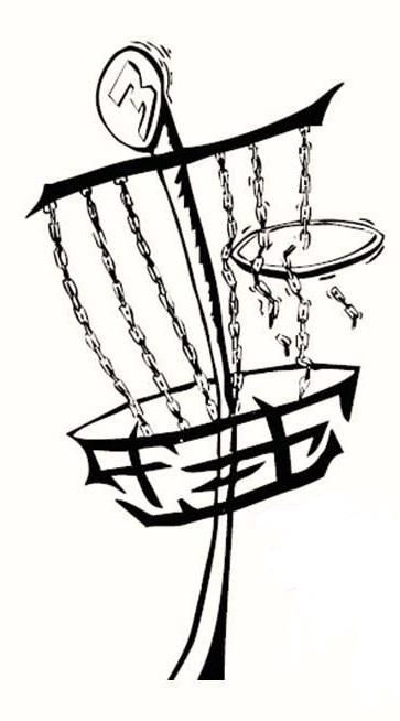 Disc Golf Basket Clip Art.