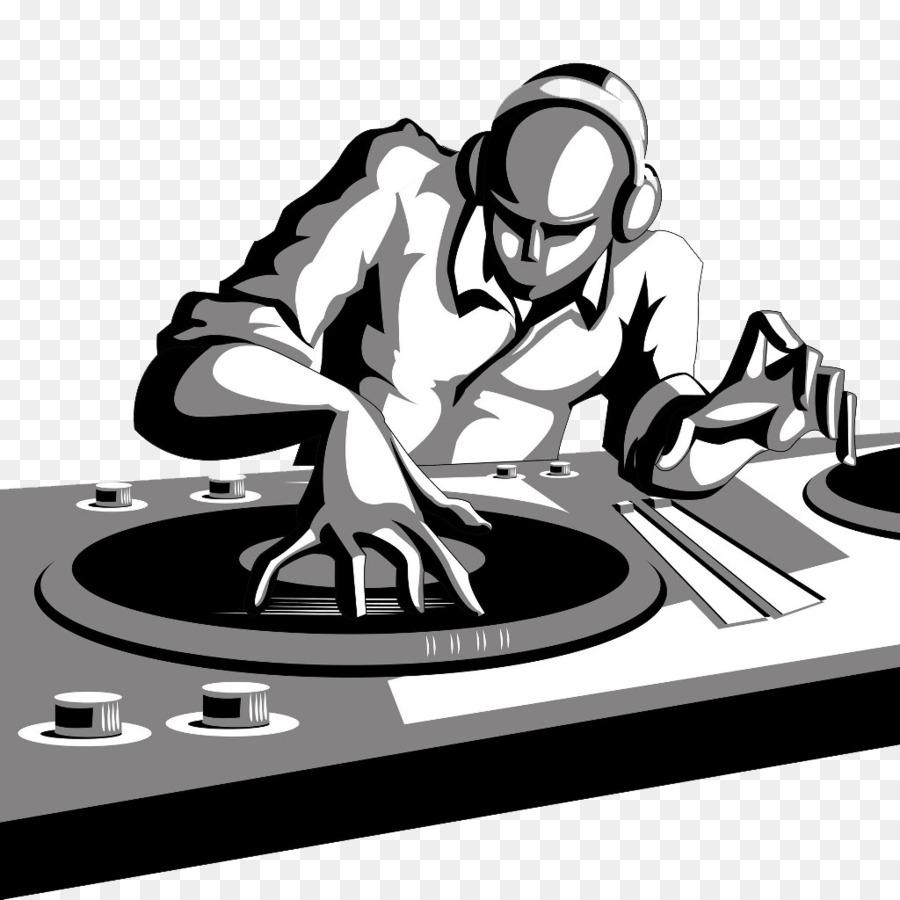 Disc jockey DJ mixer Cartoon Clip art.