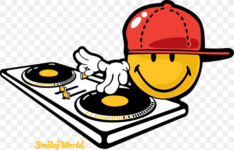 Emoticon Smiley Disc Jockey Phonograph Record Clip Art, PNG.