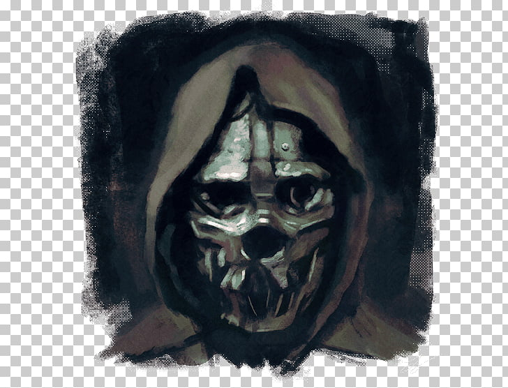 Dishonored 2 Corvo Attano Mask Drawing, Dishonoured PNG.