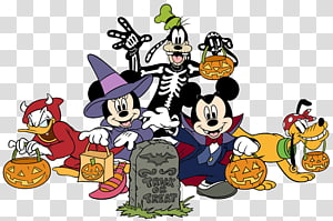 Disney Halloween transparent background PNG cliparts free.