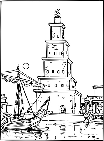 Ancient Lighthouse clip art Free vector in Open office drawing svg.