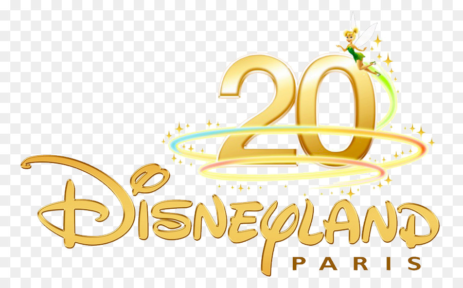 Disneyland, Text, Yellow, transparent png image & clipart free download.