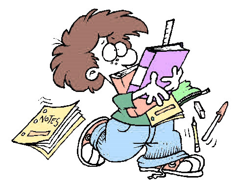 Disorganized Student Clipart.