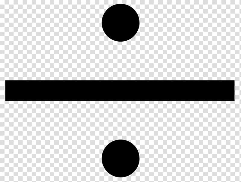 Obelus Division Multiplication sign , divide transparent.