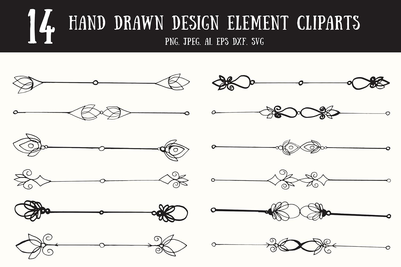 10+ Decorative Text Dividers Cliparts.