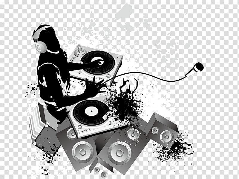 Disc jockey Nightclub Music DJ mix, DJ poster decoration.