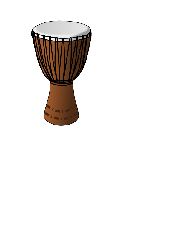 Free Clipart: Djembe drum.