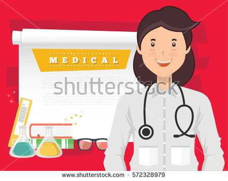 Doctor Man Woman Doctor Stock Vector 291642281.