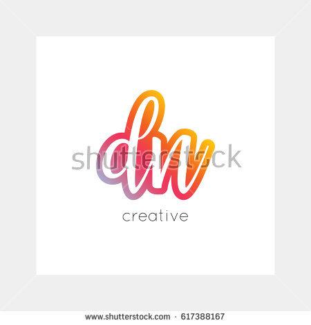 DM logo, vector. Useful as branding symbol, app icon, alphabet.