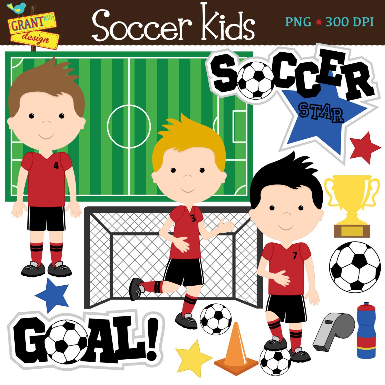 Soccer Clip Art Soccer Boys Clipart Cute Digital Clipart.