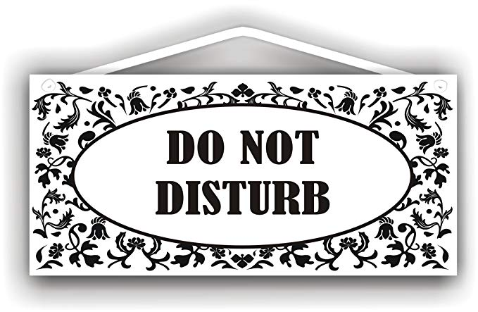 MySigncraft Do Not Disturb Sign for Indoor or Outdoor use.