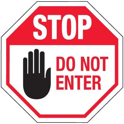 Do Not Enter Clipart.