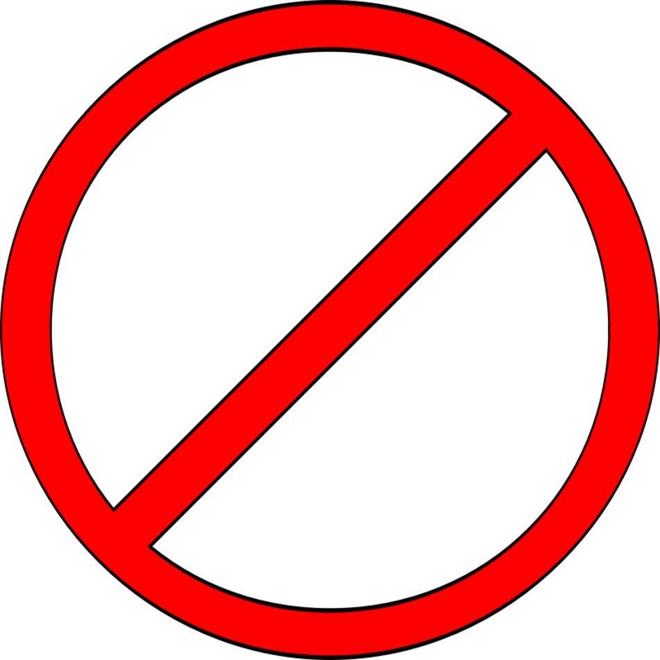 Do Not Enter Clip Art N13 free image.