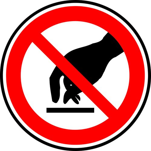 Do not touch warning sign vector drawing.