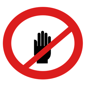Do Not Touch Sign clipart, cliparts of Do Not Touch Sign free.