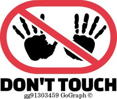 Dont Touch Clip Art.