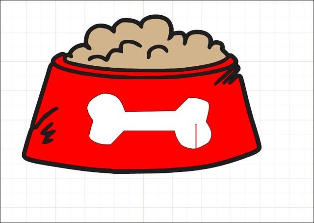 Pix For Pink Dog Bowl Clip Art.
