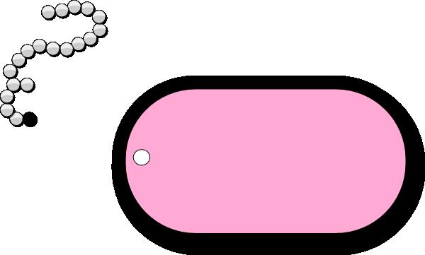 Dog Tag Simple Pink Clip Art at Clker.com.