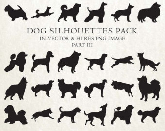 Dog breed silhouette.